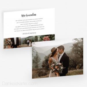 Hochzeitseinladung Bilderreich 21 x 15 cm