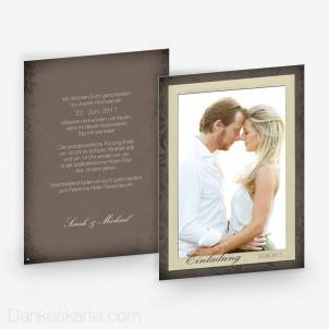 Hochzeitseinladung Bold Frame 15 x 21 cm