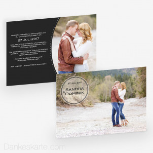 Hochzeitseinladung Button 21 x 15cm