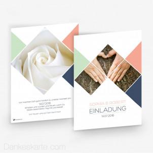 Hochzeitseinladung Diamond 15 x 21cm