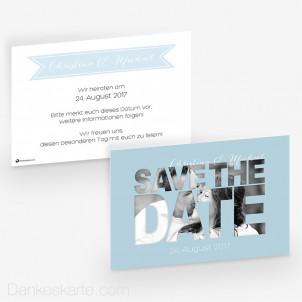 Hochzeitseinladung Durchblick 15 x 10 cm