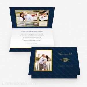 Hochzeitseinladung Edelglänzend 15 x 10 cm Vertikalklappkarte