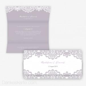 Hochzeitseinladung Einsame Spitze 21.5 x 10.5 cm Wickelfalz