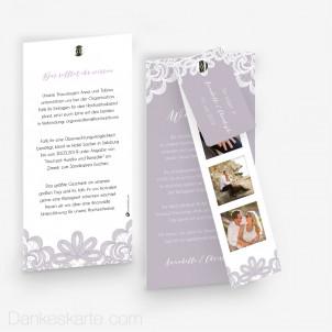 Hochzeitseinladung Einsame Spitze mit Fotostreifen 10 x 21 cm