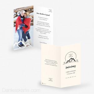 Hochzeitseinladung Gipfelstürmer 10 x 21 cm