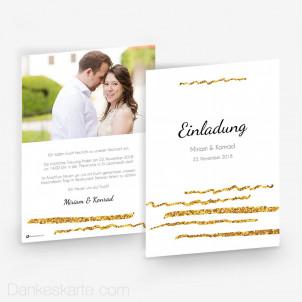 Hochzeitseinladung Goldschimmer 4 15 x 21 cm