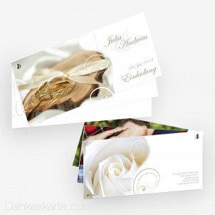 Hochzeitseinladung Schraubenkarte Imago 4 21 x 10 cm