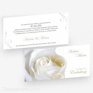 Hochzeitseinladung Imago Rose 21 x 10 cm
