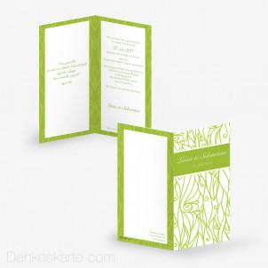 Hochzeitseinladung Immergrün 10 x 21 cm