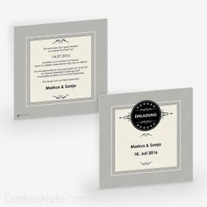 Hochzeitseinladung Invitation 14.5 x 14.5 cm