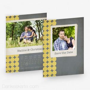 Hochzeitseinladung Kalender 15 x 21cm
