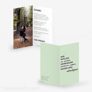Hochzeitseinladung Letters 10 x 21 cm