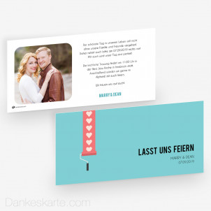 Hochzeitseinladung Love Letter 21 x 10 cm