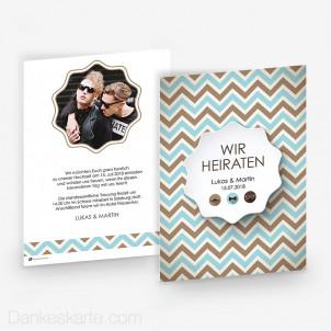 Hochzeitseinladung Männerhochzeit 15 x 21 cm