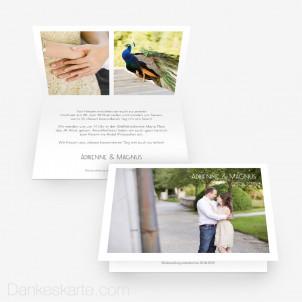 Hochzeitseinladung Minimalistisch 15 x 10 cm Vertikalklappkarte
