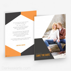 Save-the-Date Modern Shape 15 x 21 cm