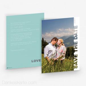 Hochzeitseinladung Pastel Love 15 x 21 cm