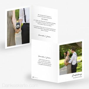 Hochzeitseinladung Polaroid Stil 10 x 15 cm
