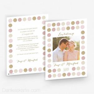 Hochzeitseinladung Sparkle Circle 15 x 21 cm