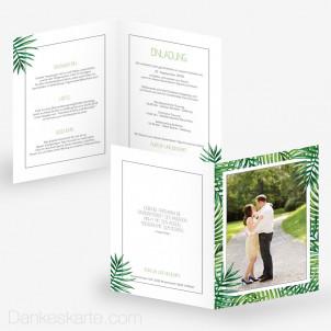 Hochzeitseinladung Tropical 15 x 21 cm