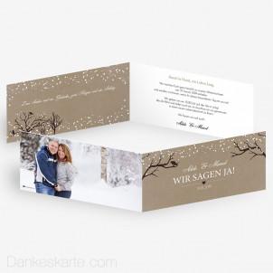 Hochzeitseinladung Verschneit 21 x 10 cm