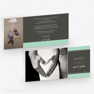Hochzeitseinladung WeDo 21 x 10 cm