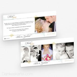 Dankeskarte Elegance 21 x 10 cm