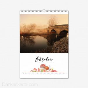 Fotokalender Blumig Hochformat