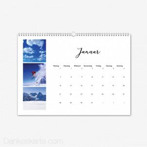 Fotokalender Klares Design Querformat