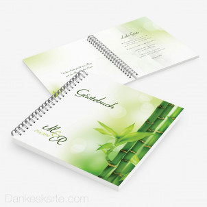 Gästebuch Bambus