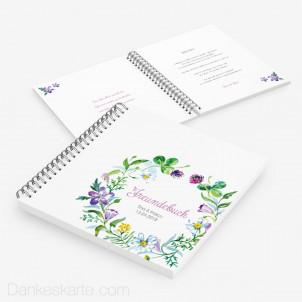 Gästebuch Blumendekor