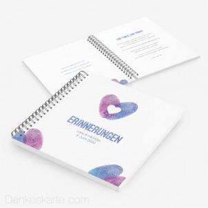Gästebuch Fingerabdruck Herz