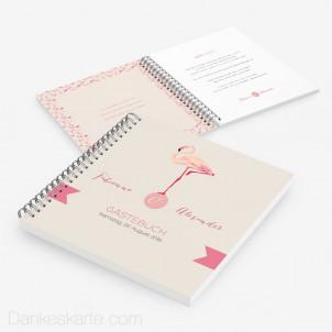 Gästebuch Flamingo