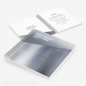 Gästebuch Glas und Metall