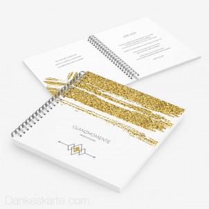 Gästebuch Golden Glitter