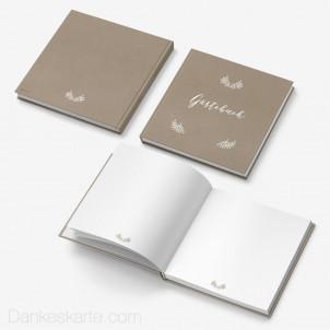 Gästebuch Hardcover Kraftpapier Eleganz Blanko 21x21cm