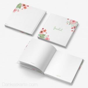 Gästebuch Hardcover Total Floral Blanko 21x21cm