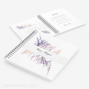 Gästebuch Lavendel Zweige