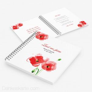 Gästebuch Mohnblumen