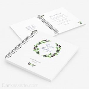 Gästebuch Olivenzweige