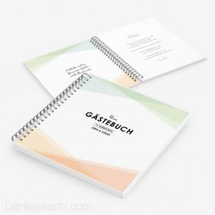 Gästebuch Pastellgeometrie