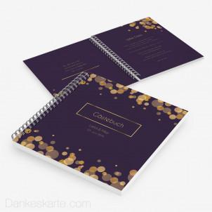 Gästebuch Purple Gold