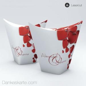 Gastgeschenkverpackung China-Box Heart 8.5 x 3.5 cm