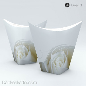Gastgeschenkverpackung China-Box Imago Rose 8.5 x 3.5 cm