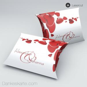 Gastgeschenkverpackung Kissen Heart 11 x 7 cm