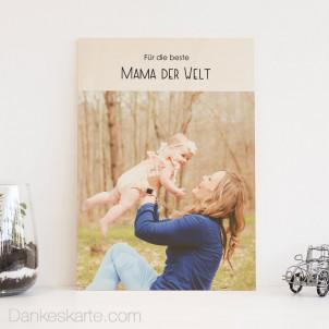 Holzbild Beste Mama