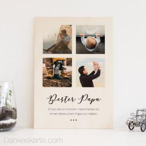 Holzbild Bester Papa