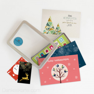 Weihnachtskartenset Geschmückt 34 Teile