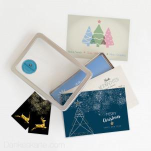 Weihnachtskartenset Festlich 34 Teile