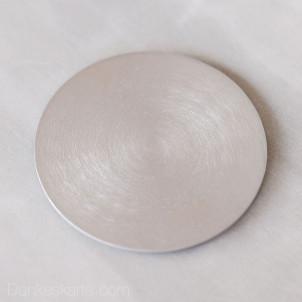 Kerzenteller Aluminium gebürstet rund Ø10cm